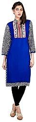 Sneharsh Women's Linen Kurti(SK107 _ 42, Blue, 42)