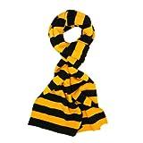 TrendsBlue Yellow & Black Soft Knit Striped Scarf