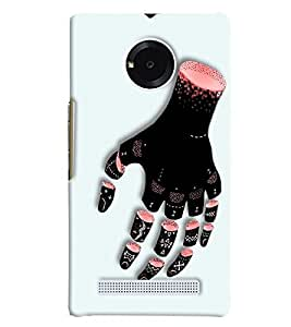Blue Throat Hand Cutting Effect Printed Designer Back Cover/ Case For Micromax Yu Yphoria