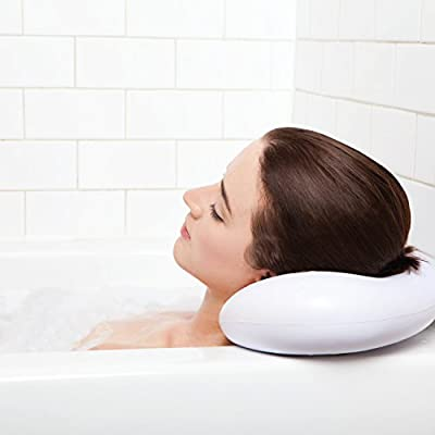 Luxury Spa Bath Pillow with Suction Cups - Extra Firm and Best Quality - Supports Your Neck & Head Perfectly - Fits All Hot Tub, Whirlpool, Jacuzzi & Standard Tubs