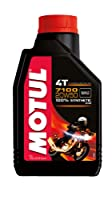 Motul 104103 7100 4T Synthetic 20W-50 Petrol Engine Oil for Bikes (1 L)