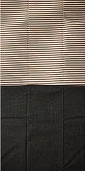 Grasim Men's Cotton Shirt and Trousers Fabrics (46, Brown and Black)