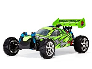 Redcat Racing Tornado S30 Nitro Buggy, Red/Green, 1/10 Scale