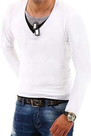 MyTrends - T-shirt tendance 3 en 1 avec manches longues - BL-621 - Taille L