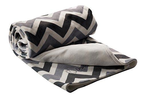 Berlando- chevron baby blanket, Gray, unisex baby blanket for baby boys and baby girls, #1 ranked in baby blankets unisex, minky baby blankets, stroller blanket, ideal baby shower gift, 100% polyester