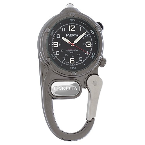 Dakota Watch Company Mini Clip Microlight Watch, Gunmetal