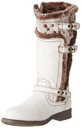 Tom Tailor8570907 - Stivali Bambina , Bianco (Blanc (Snow)), 38