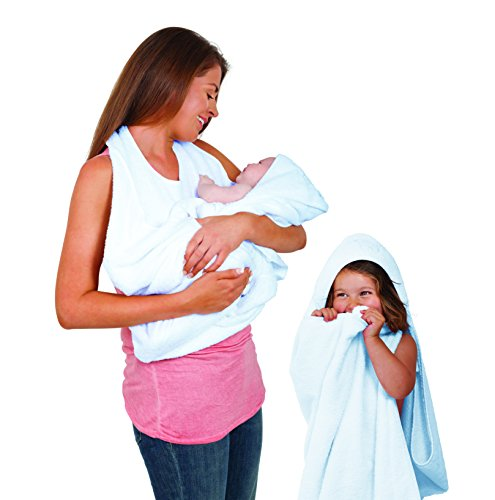 Clevamama Splash And Wrap Baby Bath Towel (Blue)