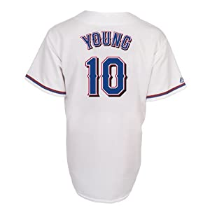 Michael Young Texas Rangers Replica Home Jersey by Majestic