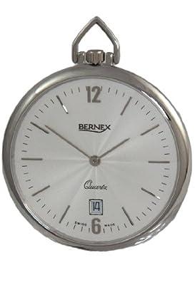 Bernex Pocket Watch GB21229 Rhodium Plated Open Face