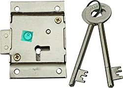 RAMSON Force 6 Levers Iron Cupboard Lock with 2 Keys (70mm)