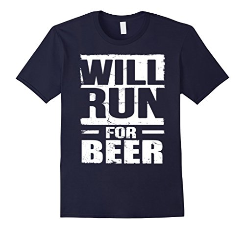 Men's Will Run For Beer T shirt 2XL Navy (Will Run For Beer Shirt compare prices)