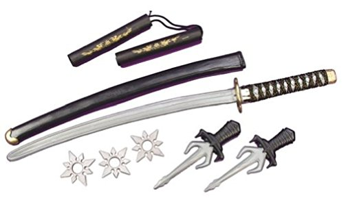 Ninja Weapon Kit, One Size, Silver