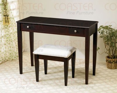 Coaster 300080 Flip-Top Vanity Set, Cappuccino