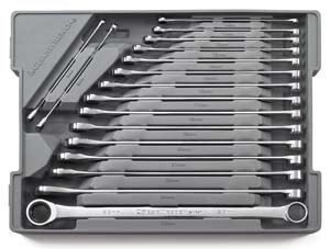 GearBox Metric Double Box Ratcheting Master Wrench Set - 17-Pc