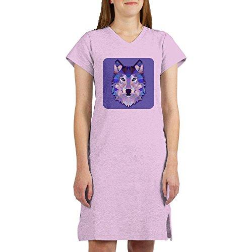 Royal Lion Women'S Nightshirt (Pajamas) Triangle Wolf - Pink, Medium