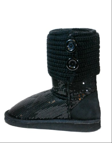 Malo-7 Women Glitter Sequins Mid Calf Ankle Boots