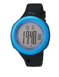 Puma Fit Unisex Digital Watch with LCD Dial Digital Display and Black Plastic or PU Strap PU910961005