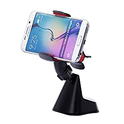 Dash Crab EX - Universal Phone Car Mount Holder | Universal Fit Holder for iPhone 6/ 6+ Samsung Galaxy S6/S6 Edge Note 4/3 Google Nexus 5/4 LG G3 Nokia and all smartphones - Retail Pack -Black