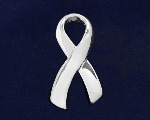 Large Silver Ribbon Pin (36 Pins)