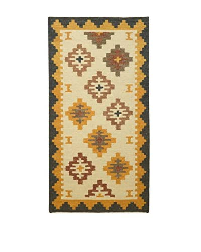 Jute & Co. Tappeto Kilim In Lana Tessuto A Mano 70 x 140 cm