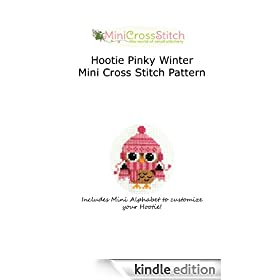 Hootie Pinky Winter Mini Cross Stitch Pattern