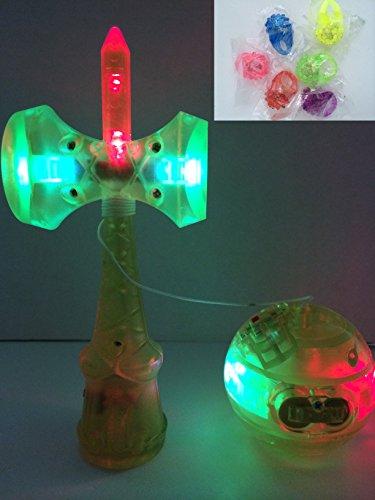 LED KENDAMA(ライムグリーン)光る けん玉 けんだま ケンダマ 剣玉