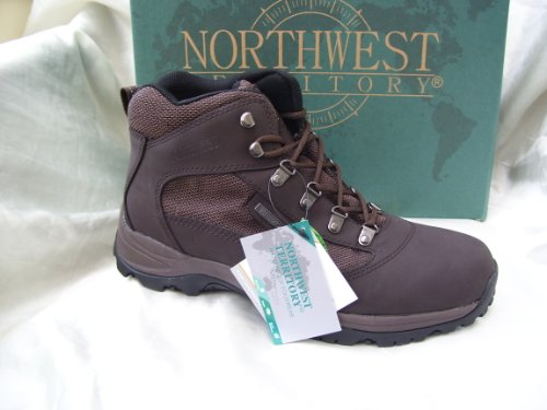 MENS BROWN LEATHER WATERPROOF WALKING HIKING UK9