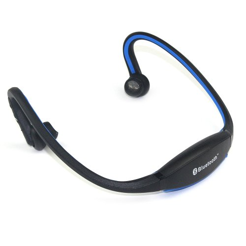 Sport Wireless Stereo Bluetooth Headset Headphone -Built in Mic for with iPads, iPhone ,iPod,Mp3, Tablets, Smartphones, laptops and PC's using VOIP and SKYPE Generic Bluetooth Headsets autotags B00HSEDML0