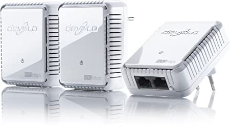 Adaptateur CPL DEVOLO DLAN 500 DUO NETWORK KIT 9106 BLANC