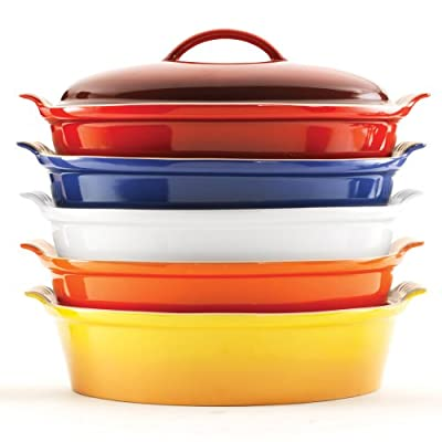 Le Creuset Stoneware 4-Quart Covered Oval Casserole