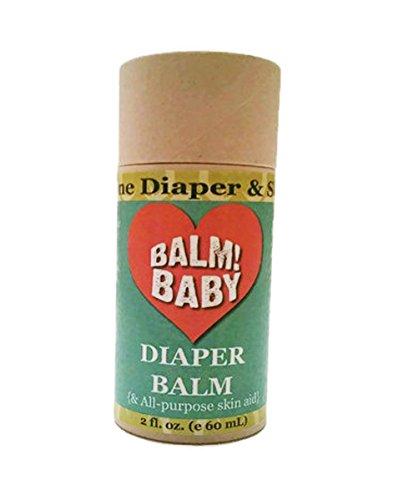 BALM! Baby Diaper Balm Natural Diaper Rash Balm & ALL Purpose Skin Aid {Glass Jar} (Single - 2oz • Biodegradable Eco Stick)