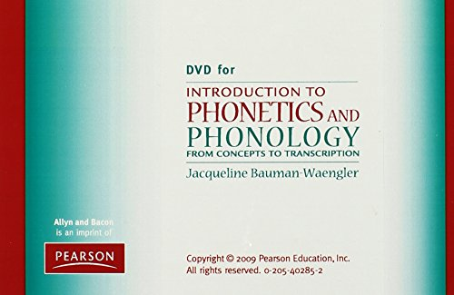 DVD for Introduction to Phonetics and Phonology: From Concepts to Transcription