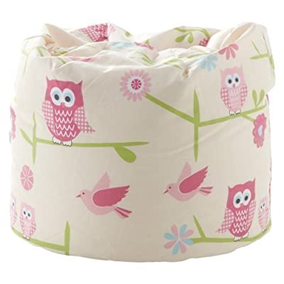 Ready Steady Bed Children's Bean Bag Owls Design Ready Filled