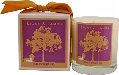 Aroma Paws Lions and Lambs Candle, 12-Ounce, California Fig