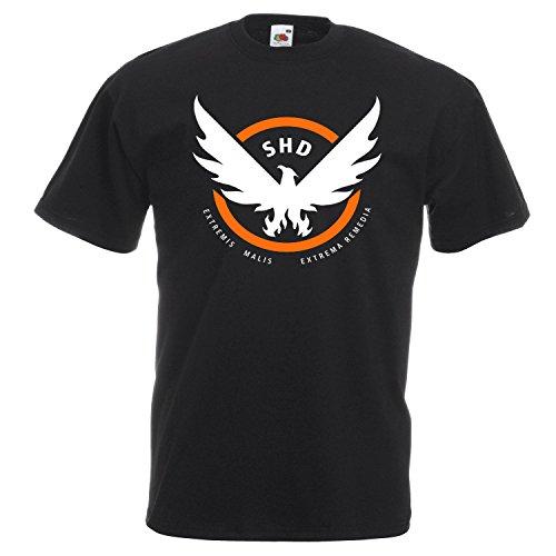 Tom Clancy's the division logo T-shirt, Cotton,100% Cotton, Men's, Women, Kids 2 (S, Nero)