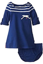 Nautica Baby Girls' Long Sleeve Engineer Stripe Dress