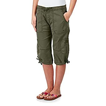 Weird fish serra 3 4 length cargo pants khaki size 8 at for Women s fishing shorts