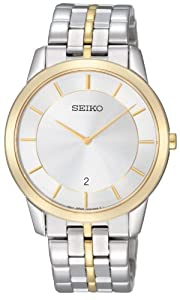 Seiko Men's Quartz Watch with Silver Dial Analogue Display and Silver Stainless Steel Bracelet SKP382P1