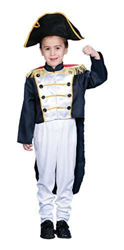 Boys Colonial General Kids Child Fancy Dress Party Halloween Costume
