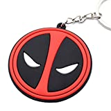 #6: GCT Deadpool / Marvel Avengers / Superhero Synthetic / Rubber Keychain / Keyring / Key Ring / Key Chain (Red/Black)