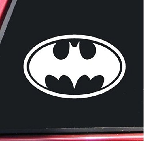 Batman Bat Signal Vinyl Decal Sticker Cars Trucks Vans Walls Laptop  WHITE  5 X 3 In Decal  KCD294