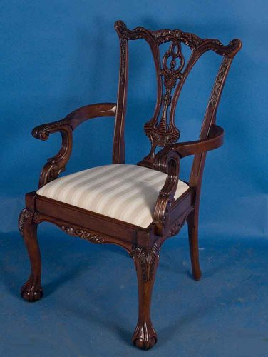 Set of 10 Ball-and-Claw Foot Solid Mahogany Dining Chair