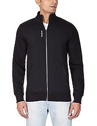Reebok Men's Cotton Track Jacket (4055015351919_AA4522_L_Black)