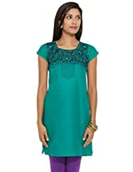 Lovely Lady Ladies Blend Straight Kurta - B00MMEUOC6