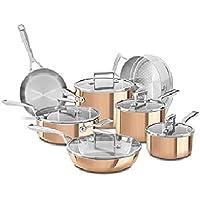 KitchenAid KC2PS12CP 12-Piece Tri-Ply Copper Set (Satin Copper)