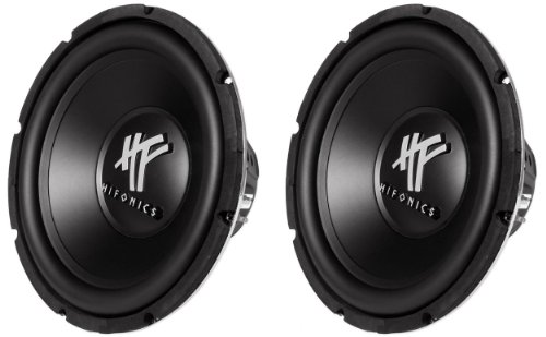 "Pair Of (2) Hifonics Hfx12D4 12"" 1200 Watt Hf Series Dual 4 Ohm Car Subwoofers"
