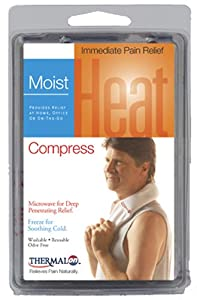 """Thermalon Microwave Activated Moist Heat-Cold Compress for Neck, Jaw, Head, Wrist, 4"""" x 22"""""""