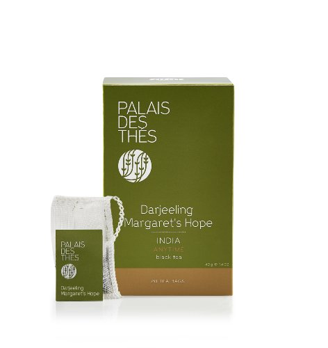 Palais Des Thés Darjeeling Margaret'S Hope India Black Tea, 20 Tea Bags (40G/1.4Oz)