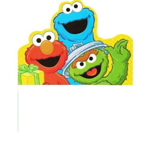 Amazon.com : Sesame Street Elmo Cookie Monster Oscar the Grouch Happy
